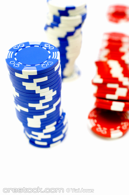 Isolated poker chips in high resolution